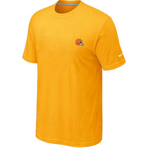 Nike Cleveland Browns Chest Embroidered Logo T-Shirt Yellow