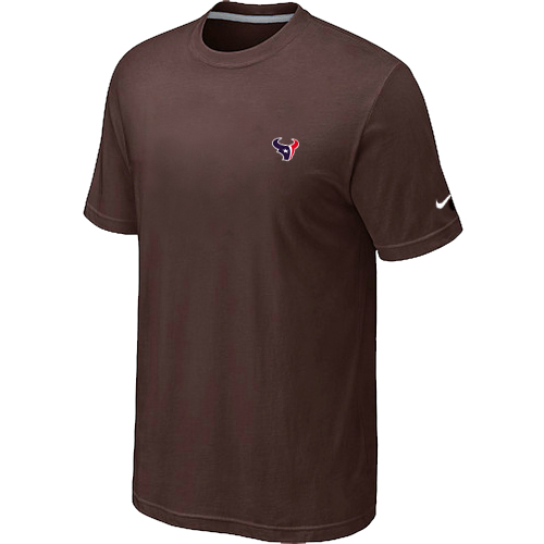Nike Houston Texans Chest Embroidered Logo T-Shirt Brown