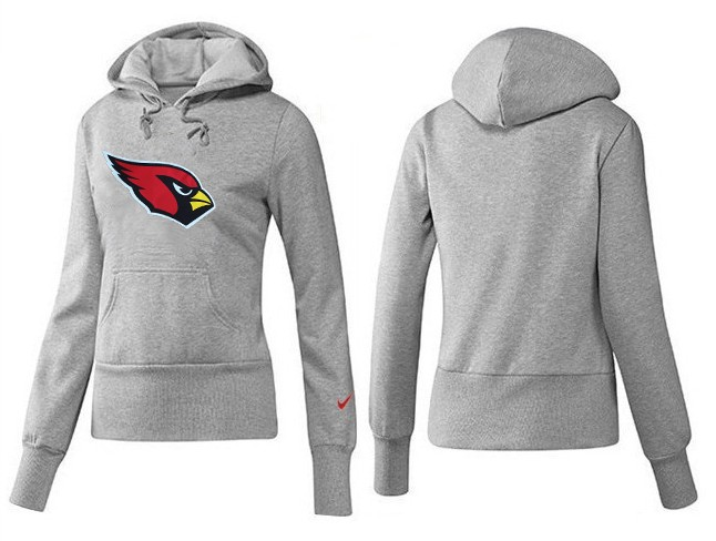 Nike Cardinals Team Logo Grey Women Pullover Hoodies 01