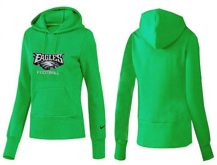 Nike Eagles Team Logo Green Women Pullover Hoodies 04