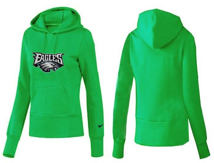 Nike Eagles Team Logo Green Women Pullover Hoodies 05