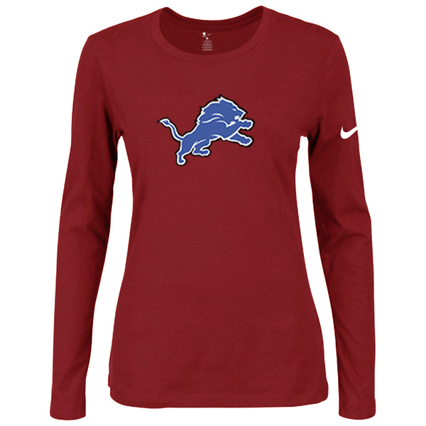 Nike Detriots Tigers Women's Of The City Long Sleeve Tri Blend T Shirt Red