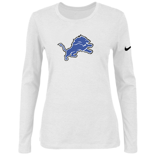 Nike Detriots Tigers Women's Of The City Long Sleeve Tri Blend T Shirt White