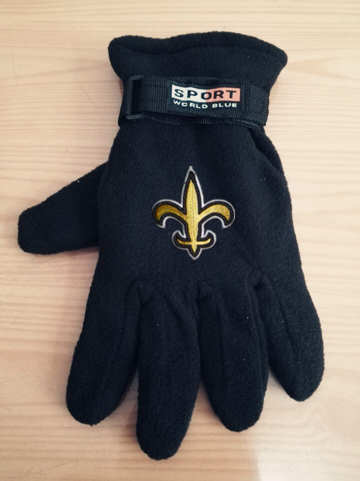 Saints Winter Velvet Warm Sports Gloves4