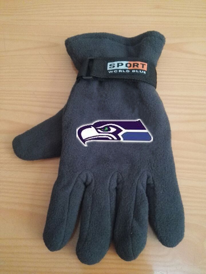 Seahawks Winter Velvet Warm Sports Gloves