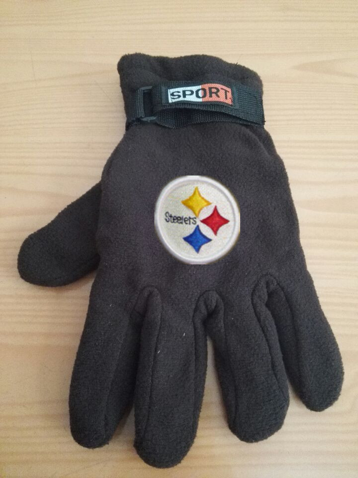 Steelers Winter Velvet Warm Sports Gloves2