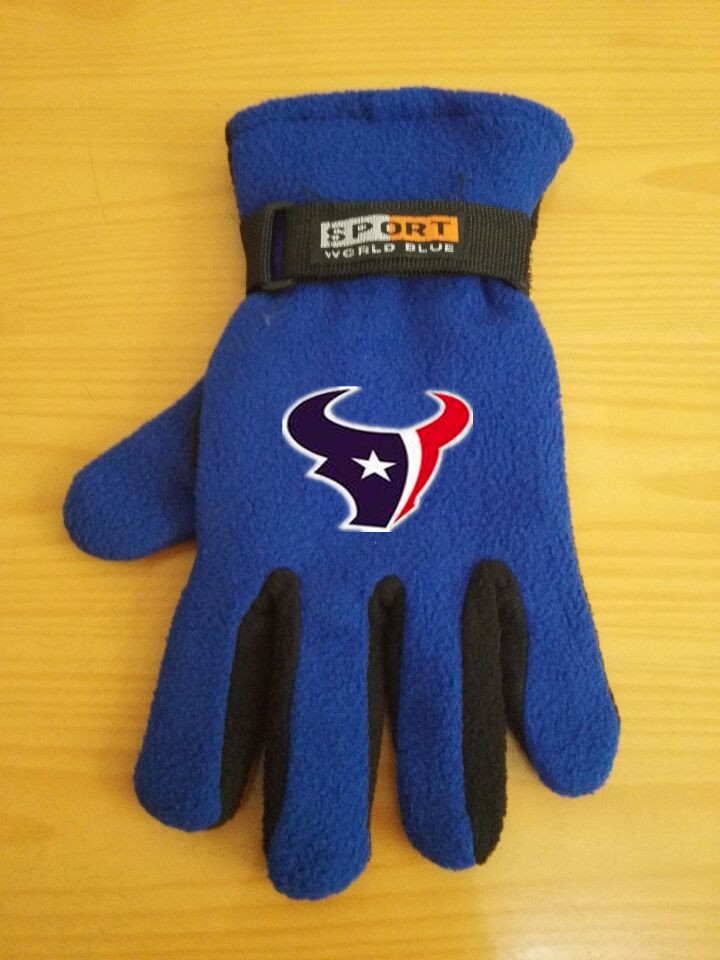 Texans Winter Velvet Warm Sports Gloves2