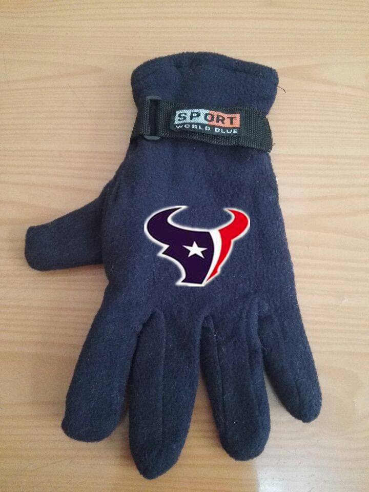 Texans Winter Velvet Warm Sports Gloves5