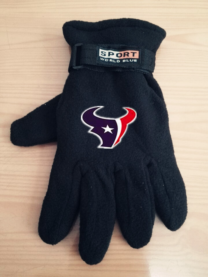 Texans Winter Velvet Warm Sports Gloves7