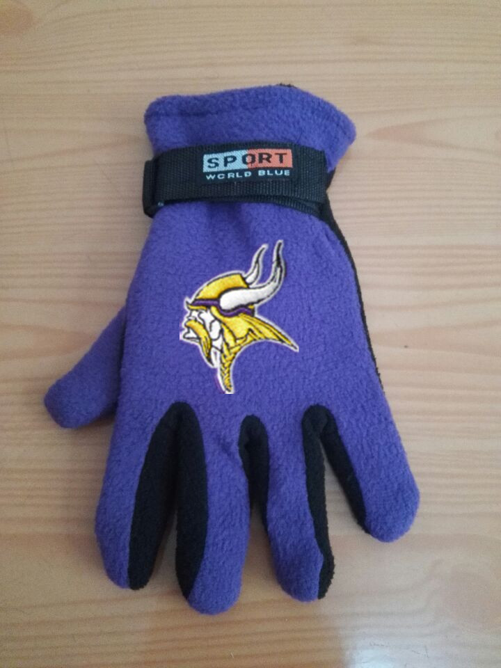 Vikings Winter Velvet Warm Sports Gloves5