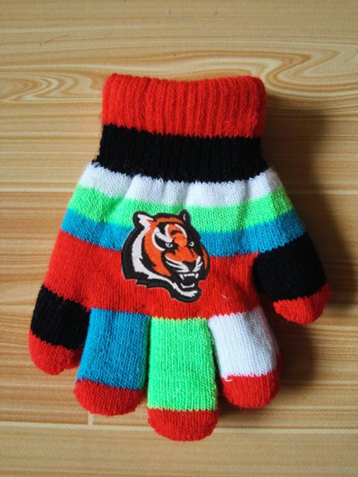 Bengals Kids Knit Gloves6