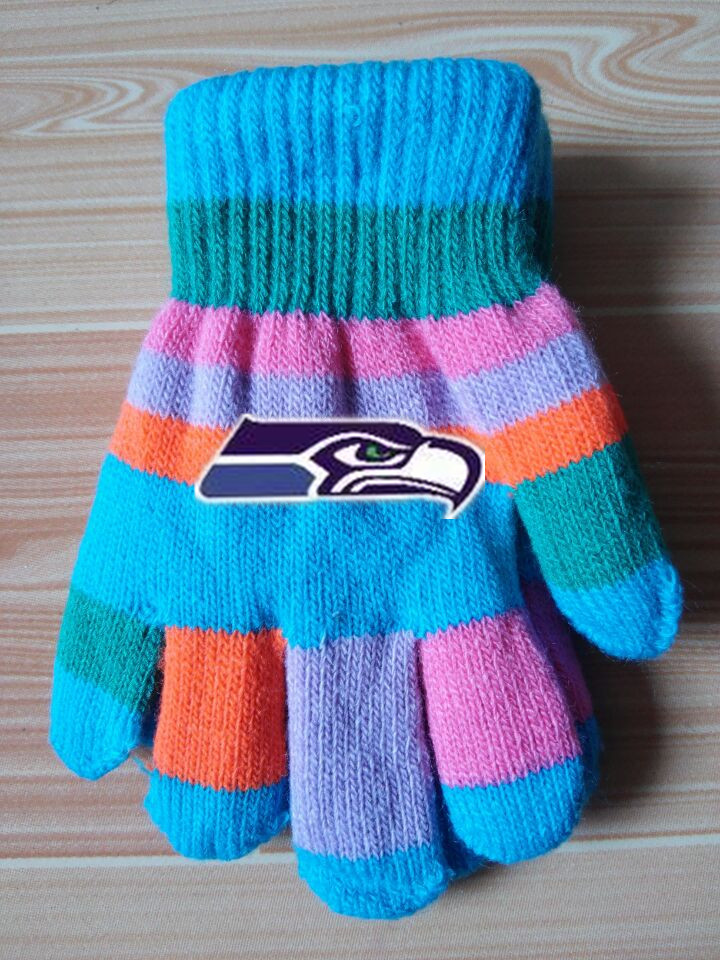 Seahawks Kids Knit Gloves