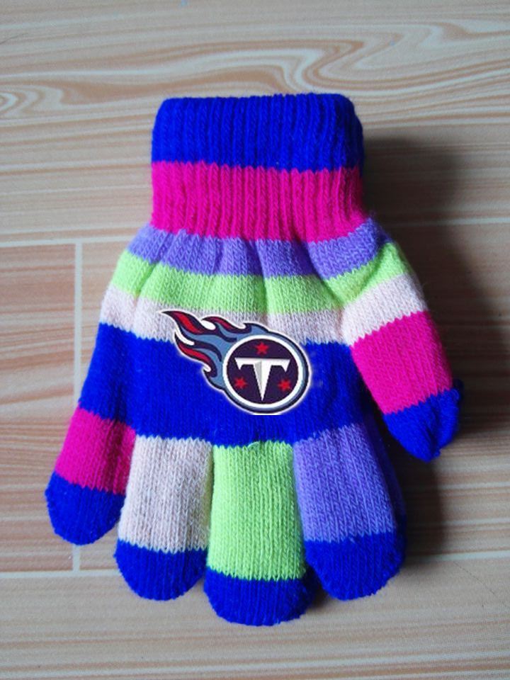 Titans Kids Knit Gloves