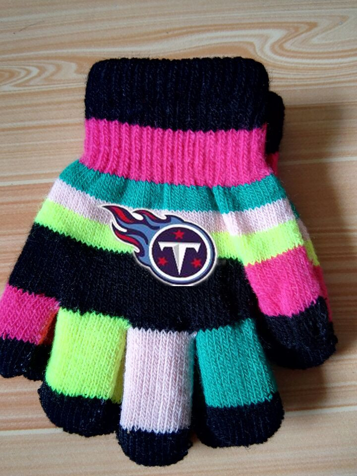 Titans Kids Knit Gloves3