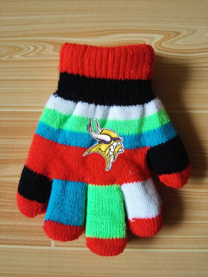 Vikings Kids Knit Gloves5