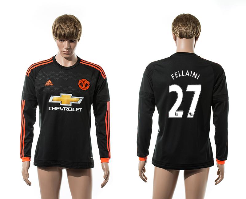 2015-16 Manchester United 27 FELLAINI Third Away Long Sleeve Thailand Jersey