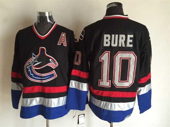 Canucks 10 Pavel Bure Black CCM Jersey
