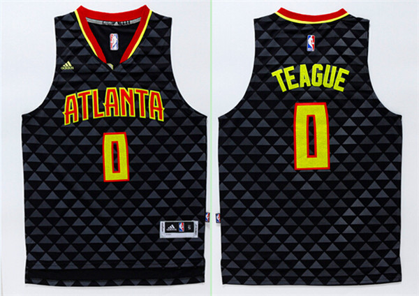 Hawks 0 Jeff Teague Black Swingman Jersey