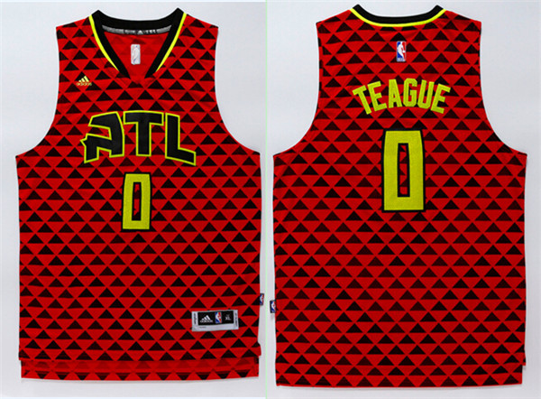 Hawks 0 Jeff Teague Red Swingman Jersey