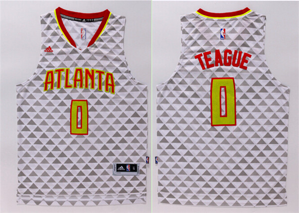 Hawks 0 Jeff Teague White Swingman Jersey
