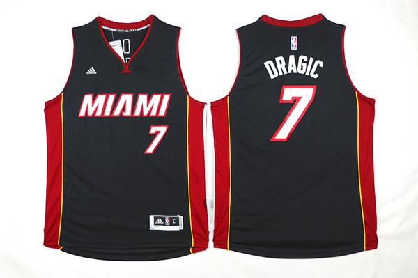 Heat 7 Goran Dragic Black Swingman Jersey