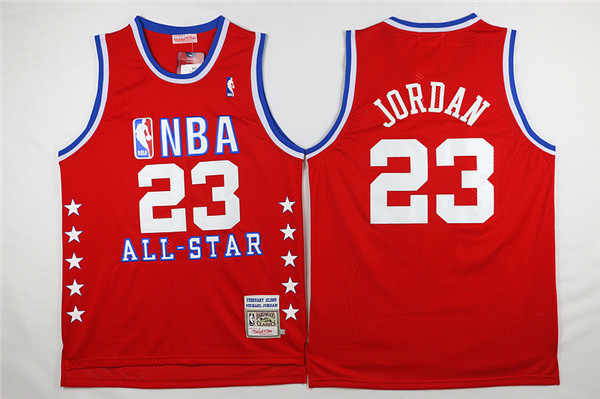 NBA 23 Michael Jordan 1988-89 All Star Red Hardwood Classics Jersey