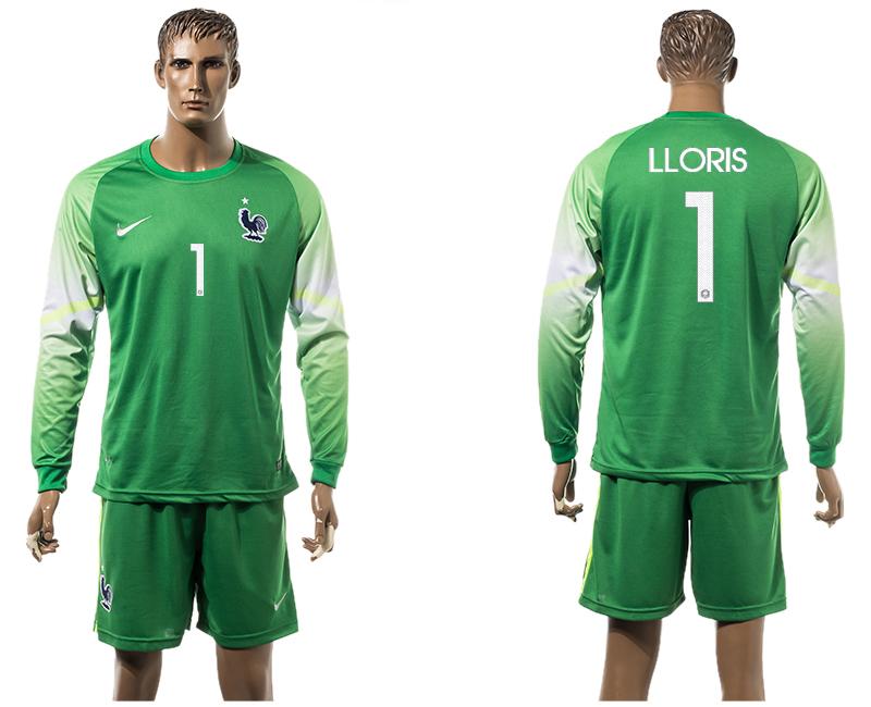 2015-16 France 1 LLORIS Goalkeeper Long Sleeve Jersey
