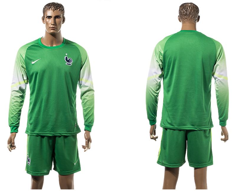 2015-16 France Goalkeeper Long Sleeve Jersey
