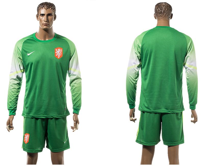 2015-16 Netherlands Goalkeeper Long Sleeve Jersey