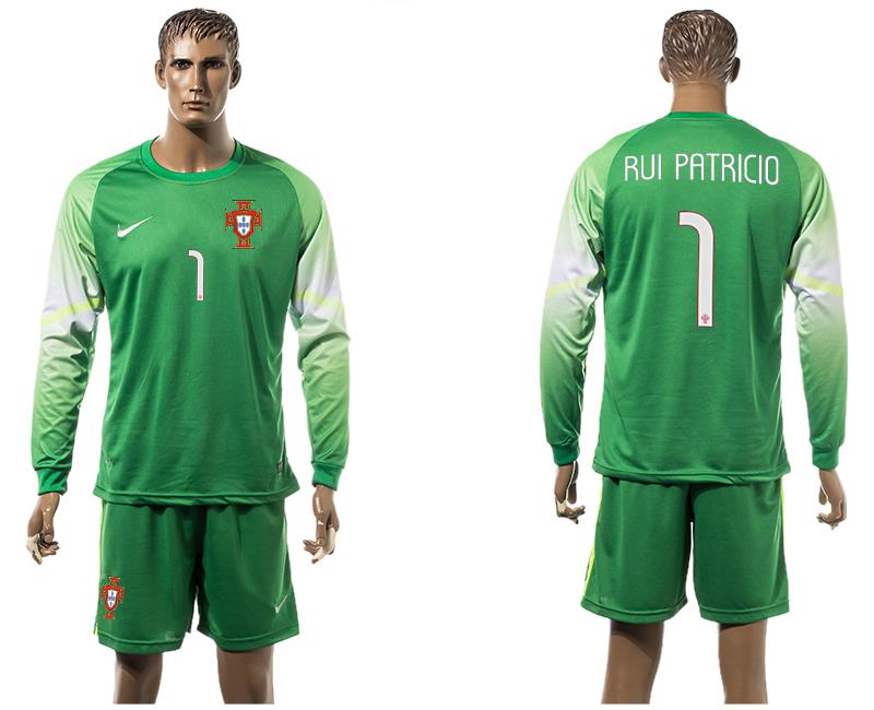 2015-16 Portugal 1 RUI PATRICIO Goalkeeper Long Sleeve Jersey