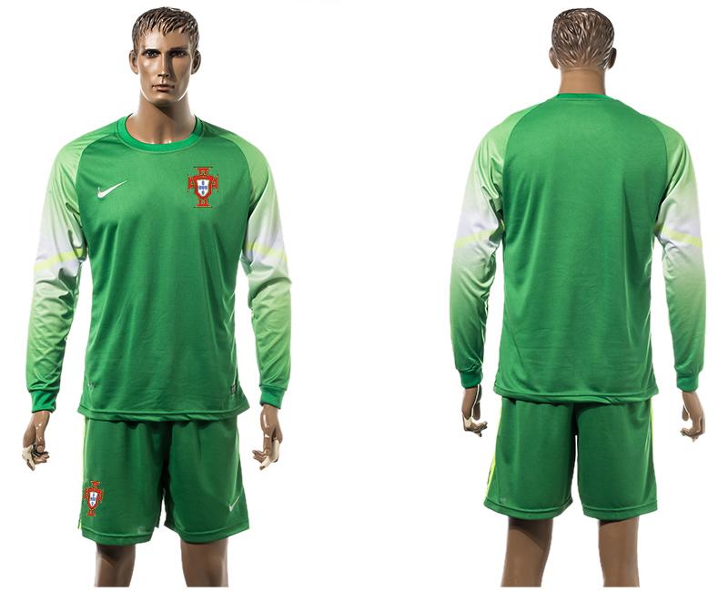 2015-16 Portugal Goalkeeper Long Sleeve Jersey