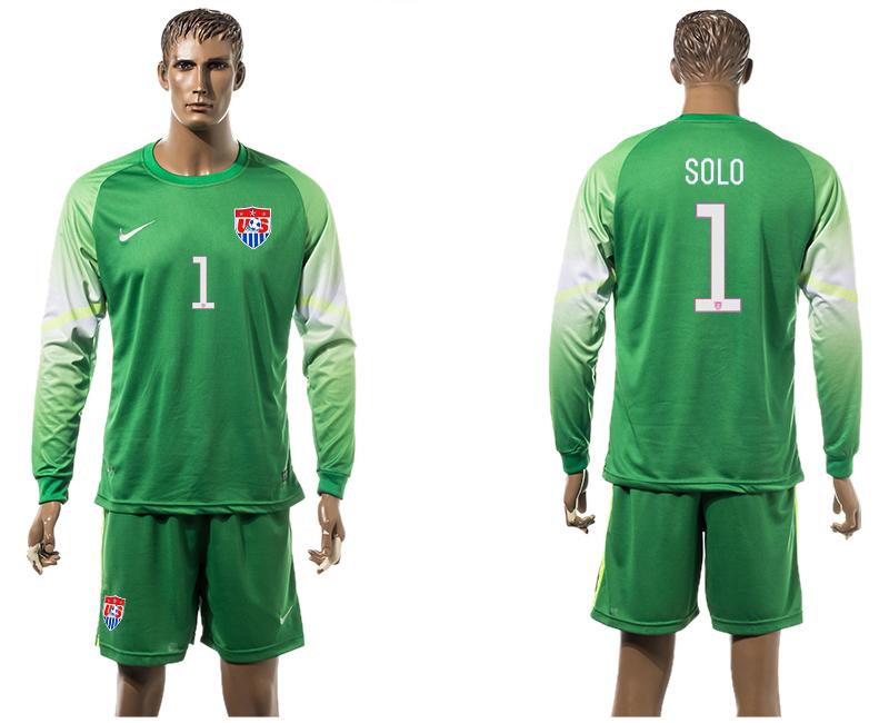 2015-16 USA 1 SOLO Goalkeeper Long Sleeve Jersey