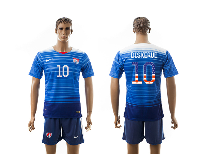 2015-16 USA 10 DISKERUD Independence Day Away Jersey