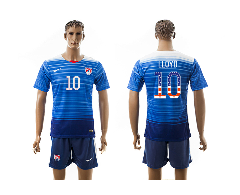 2015-16 USA 10 LLOYD Independence Day Away Jersey