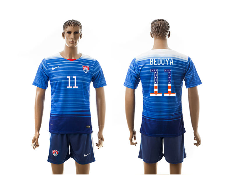 2015-16 USA 11 BEDOYA Independence Day Away Jersey