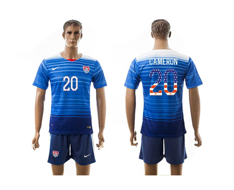 2015-16 USA 20 CAMERON Independence Day Away Jersey