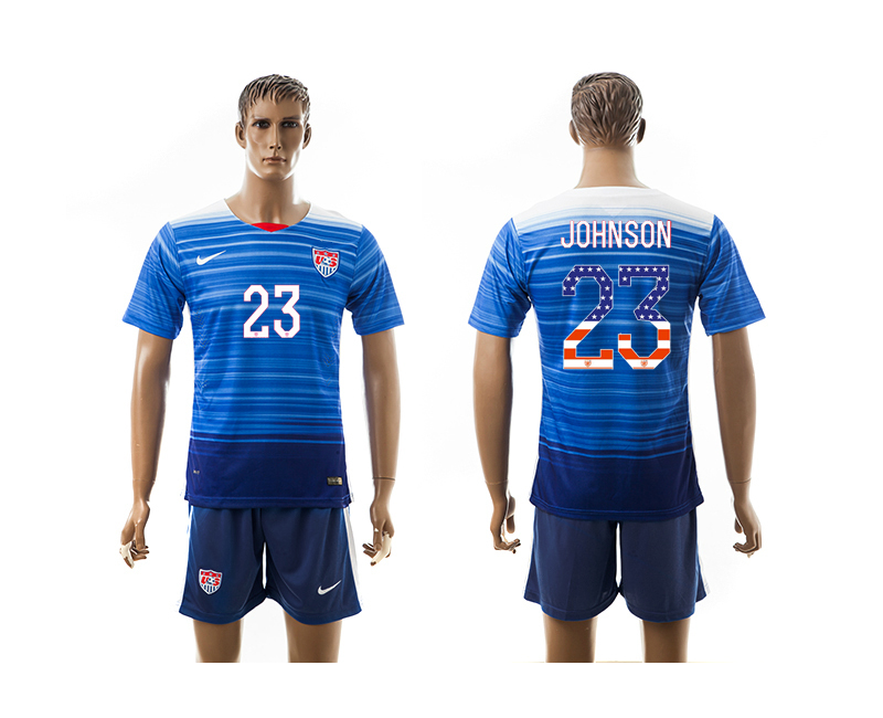 2015-16 USA 23 JOHNSON Independence Day Away Jersey