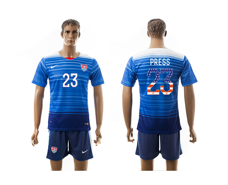 2015-16 USA 23 PRESS Independence Day Away Jersey