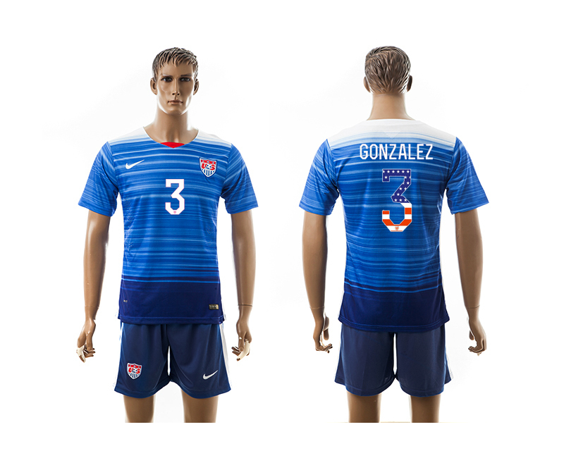 2015-16 USA 3 GONZALEZ Independence Day Away Jersey