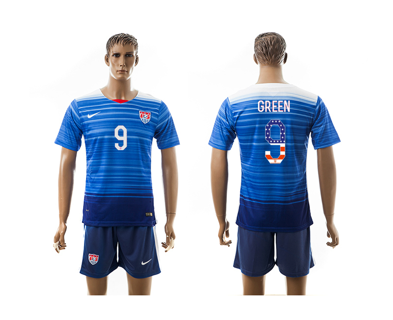 2015-16 USA 9 GREEN Independence Day Away Jersey