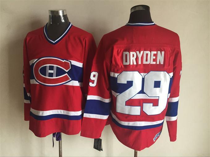 Canadiens 29 Ken Dryden Red CCM Jersey