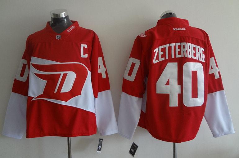 Red Wings 40 Henrik Zetterberg Red 2016 Stadium Series Reebok Jersey
