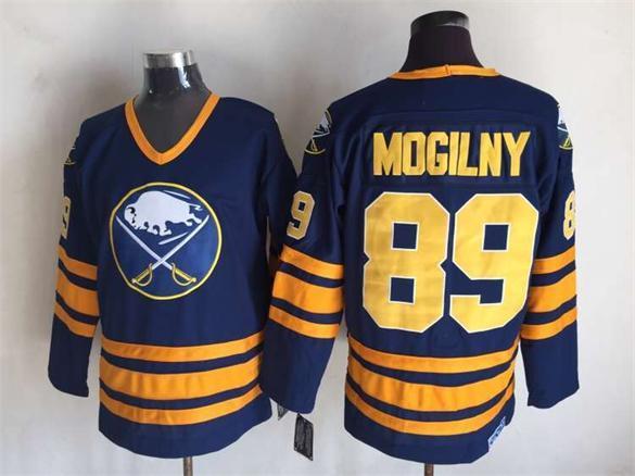 Sabres 89 Alexander Mogilny Blue CCM Jersey