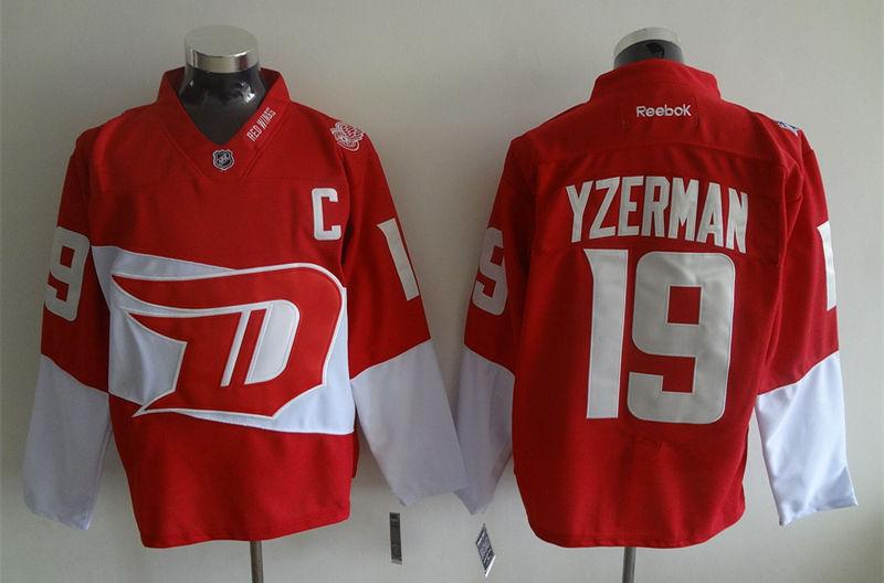 Red Wings 19 Steve Yzerman Red 2016 Stadium Series Reebok Jersey