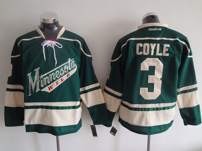 Wild 3 Charlie Coyle Green Reebok Jersey