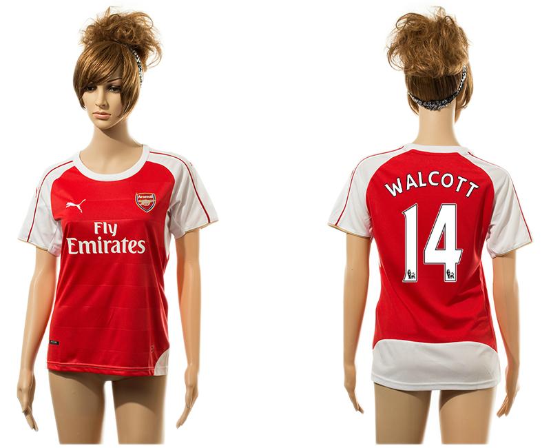 2015-16 Arsenal 14 WALCOTT Home Women Jersey