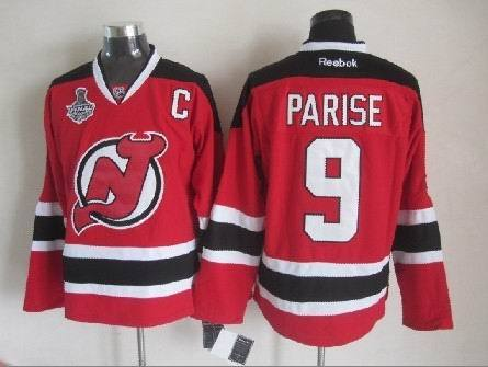 Devils 9 Zach Parise Red 2012 Stanley Cup Finals Reebok Jersey