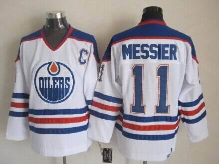 Oilers 11 Mark Messier White CCM Jersey