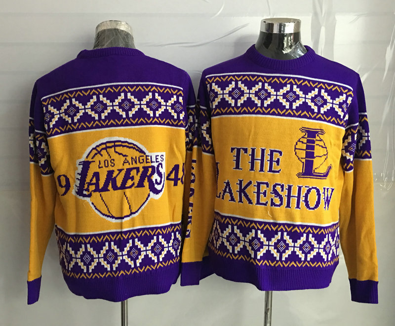 Los Angeles Lakers Crew Neck Men's Ugly Sweater