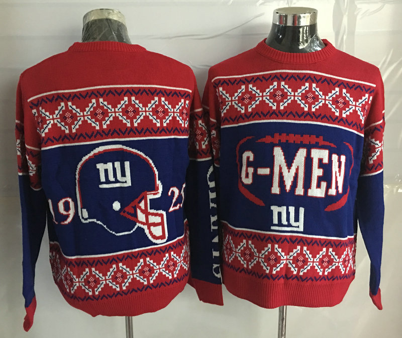 New York Giants Crew Neck Men's Ugly Sweater